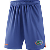 Nike Men's Florida Gators Blue Knit Football Sideline Performance Shorts