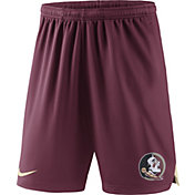 Nike Men's Florida State Seminoles Garnet Knit Football Sideline Performance Shorts