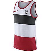 Nike Men's Georgia Bulldogs White/Black/Red Wide Stripe Dri-Blend Tank