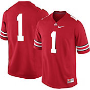 Nike Men's Ohio State Buckeyes #1 Scarlet Game Football Jersey