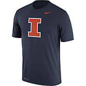 Nike Men's Illinois Fighting Illini Blue Logo Dry Legend T-Shirt