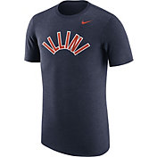 Nike Men's Illinois Fighting Illini Heathered Blue Vault Tri-Blend T-Shirt