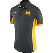 Nike Men's Michigan Wolverines Anthracite Evergreen Performance Polo