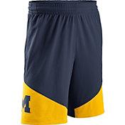 Jordan Men's Michigan Wolverines Blue/Maize New Classics Basketball Shorts