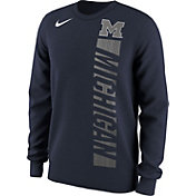 Nike Men's Michigan Wolverines Blue Project Fresh Momentum Football Long Sleeve Shirt