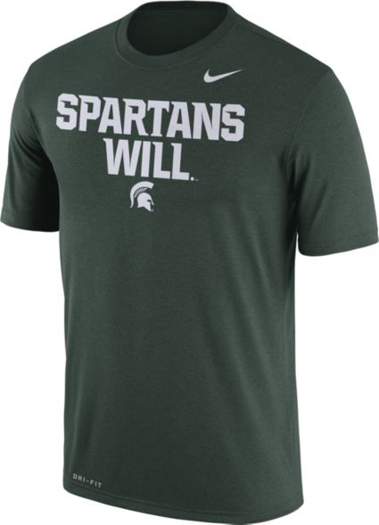 05d1a77b2 Nike Men s Michigan State Spartans Green  Spartans Will  Authentic Local  Legend T-Shirt. noImageFound
