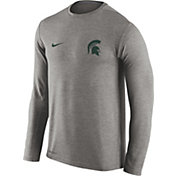 Nike Men's Michigan State Spartans Heathered Grey Dri-FIT Touch Long Sleeve Shirt