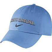 Nike Men's North Carolina Tar Heels Carolina Blue Heritage86 Wordmark Swoosh Flex Hat