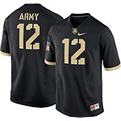 Nike Men's Army West Point Black Knights Army Black #12 Game Football Jersey