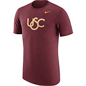 Nike Men's USC Trojans Heathered Cardinal Vault Tri-Blend T-Shirt