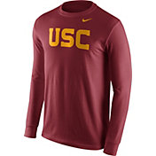 Nike Men's USC Trojans Cardinal Wordmark Long Sleeve Shirt