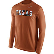 Nike Men's Texas Longhorns Burnt Orange Wordmark Long Sleeve Shirt