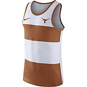 Nike Men's Texas Longhorns White/Burnt Orange Wide Stripe Dri-Blend Tank