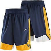 Nike Men's West Virginia Mountaineers Blue Replica Basketball Shorts