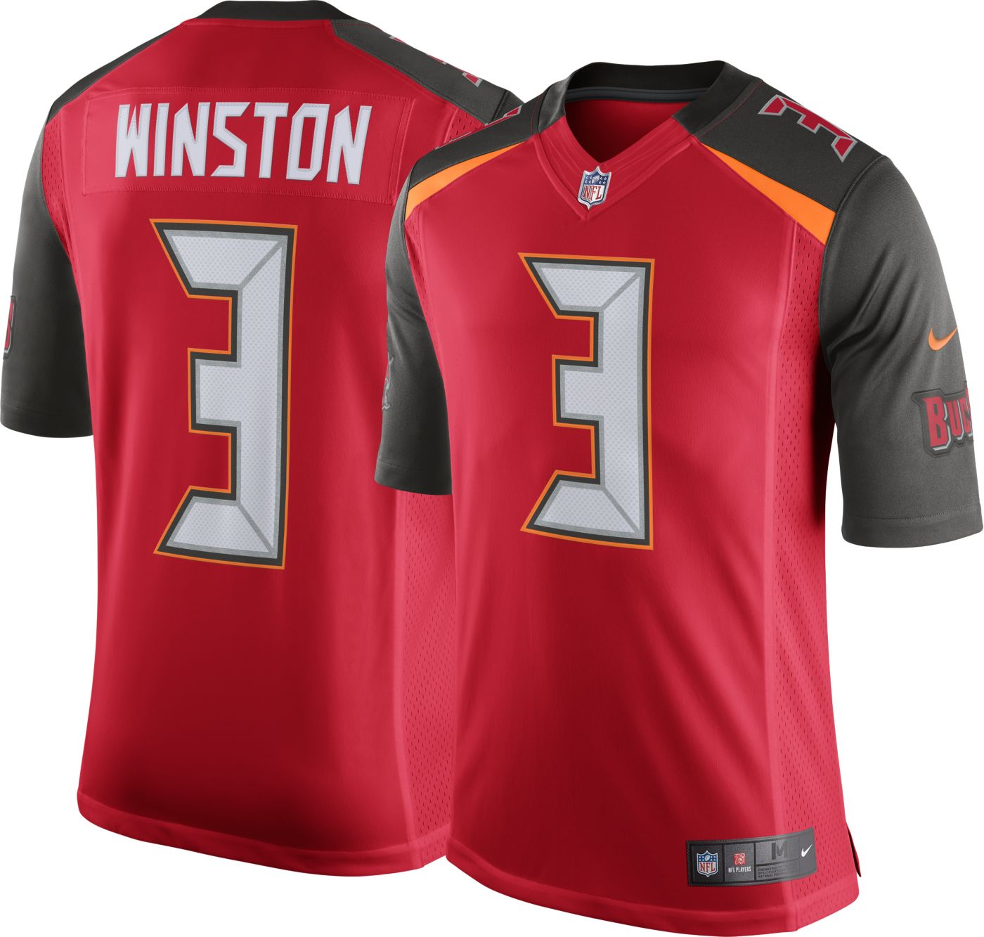 Nike Men's Home Limited Jersey Tampa Bay Buccaneers Jameis Winston #3