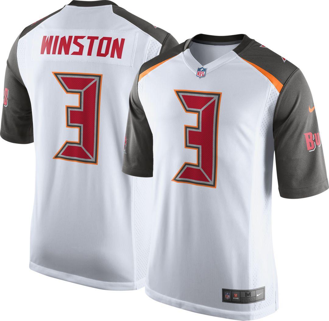 online store 55b02 21f55 Nike Men's Away Game Jersey Tampa Bay Buccaneers Jameis Winston #3