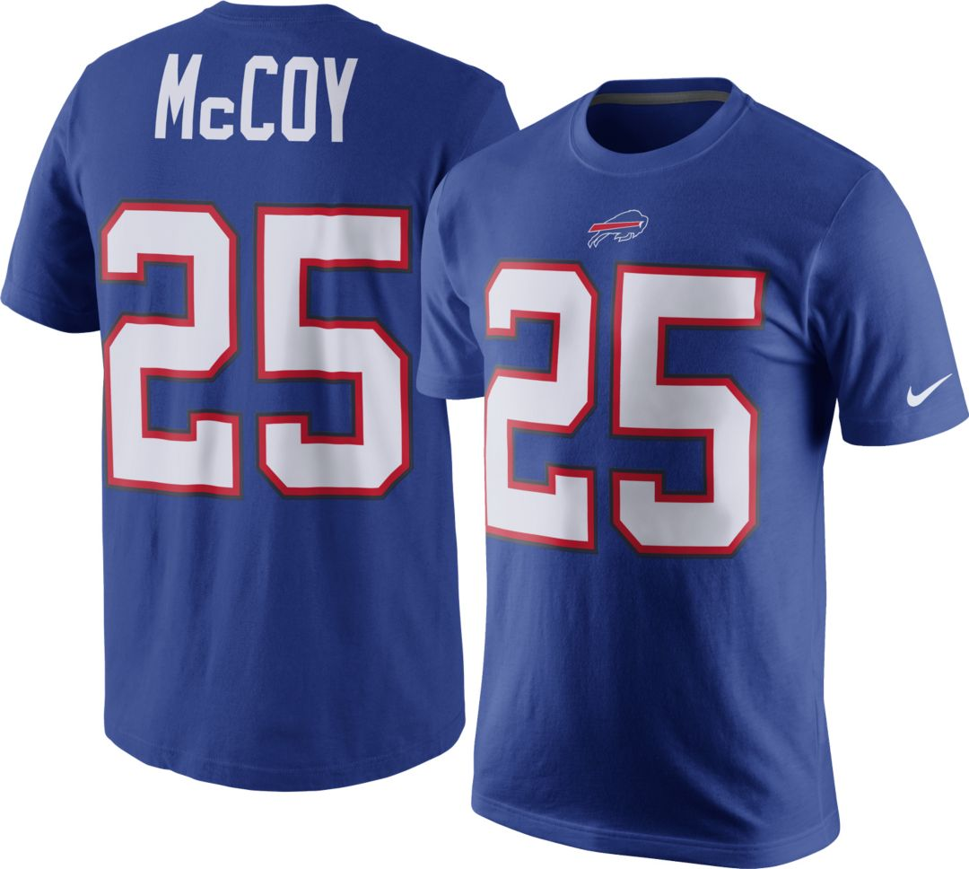 premium selection 32ba4 cbd34 Nike Men's Buffalo Bills LeSean McCoy #25 Pride Blue T-Shirt ...