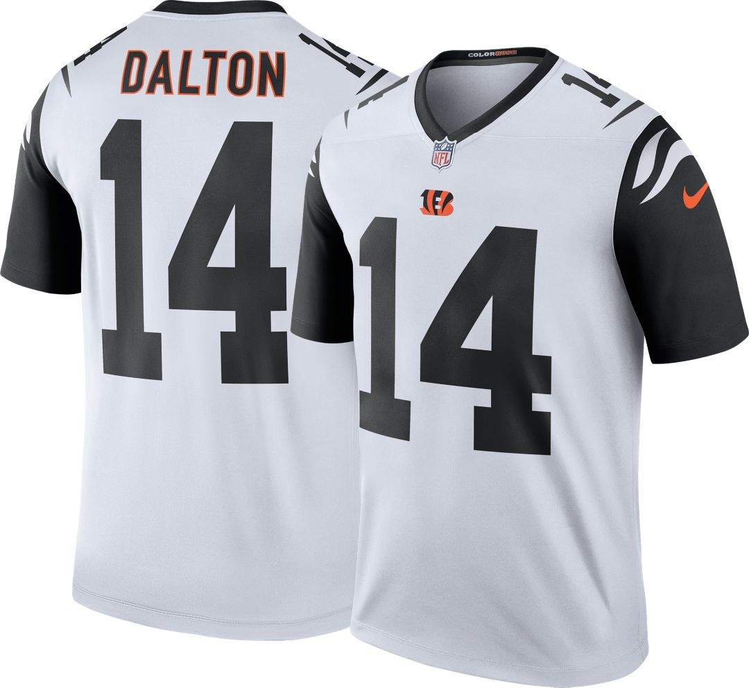 best sneakers 15fe6 72f39 Nike Men's Color Rush Cincinnati Bengals Andy Dalton #14 Legend Jersey