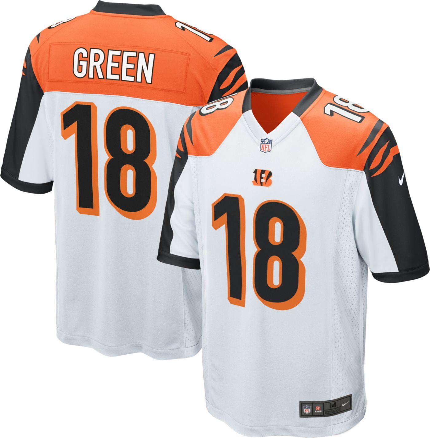 Nike Men's Away Game Jersey Cincinnati Bengals A.J. Green #18