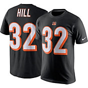 Nike Men's Cincinnati Bengals Jeremy Hill #32 Black T-Shirt
