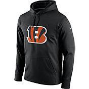 Nike Men's Cincinnati Bengals Performance Circuit Logo Essential Black Hoodie