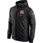 Nike Men's Cincinnati Bengals Sideline 2017 Therma-FIT Full-Zip Black Hoodie