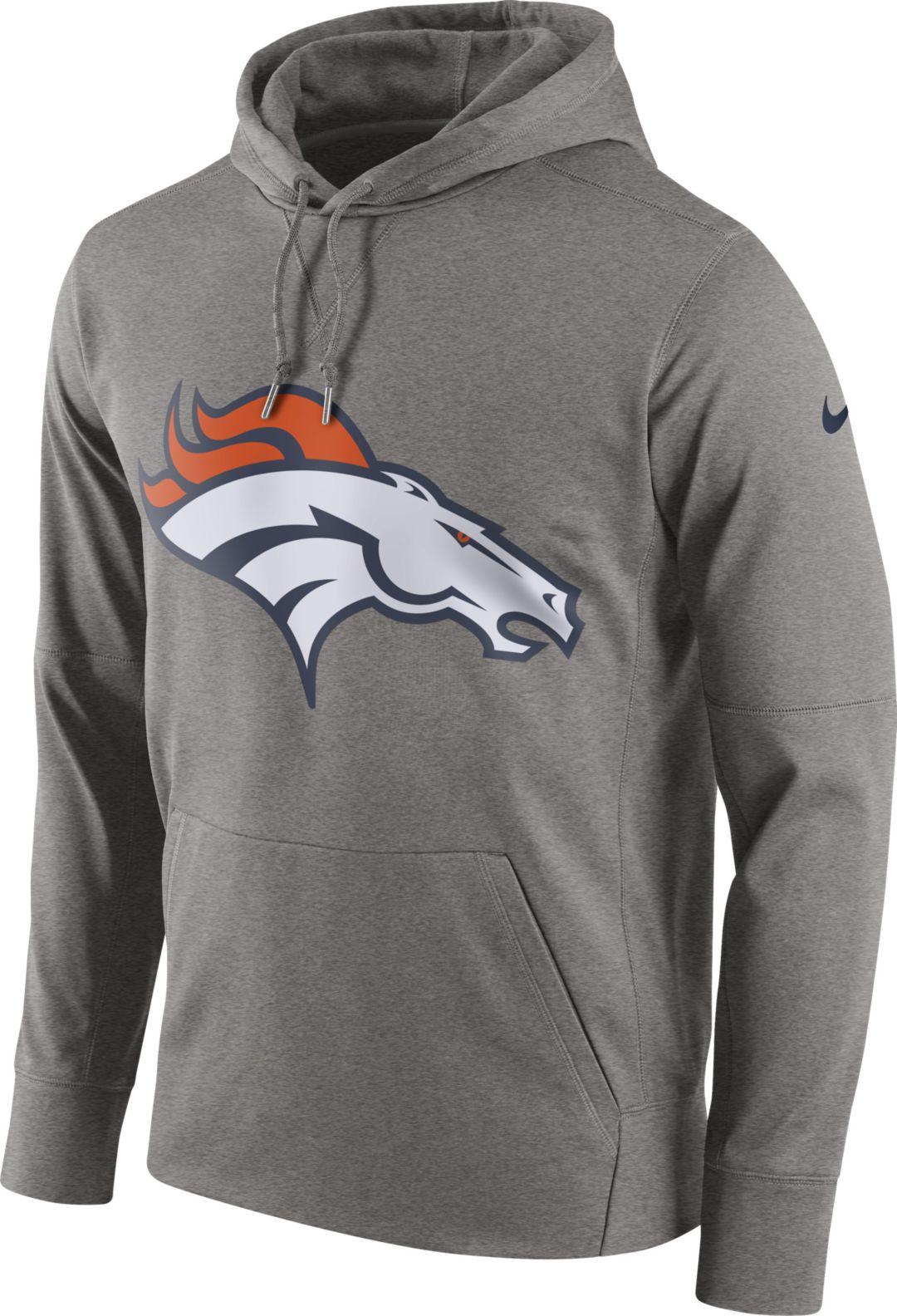 newest 1989f 3990c Nike Men's Denver Broncos Circuit Logo Grey Pullover Hoodie