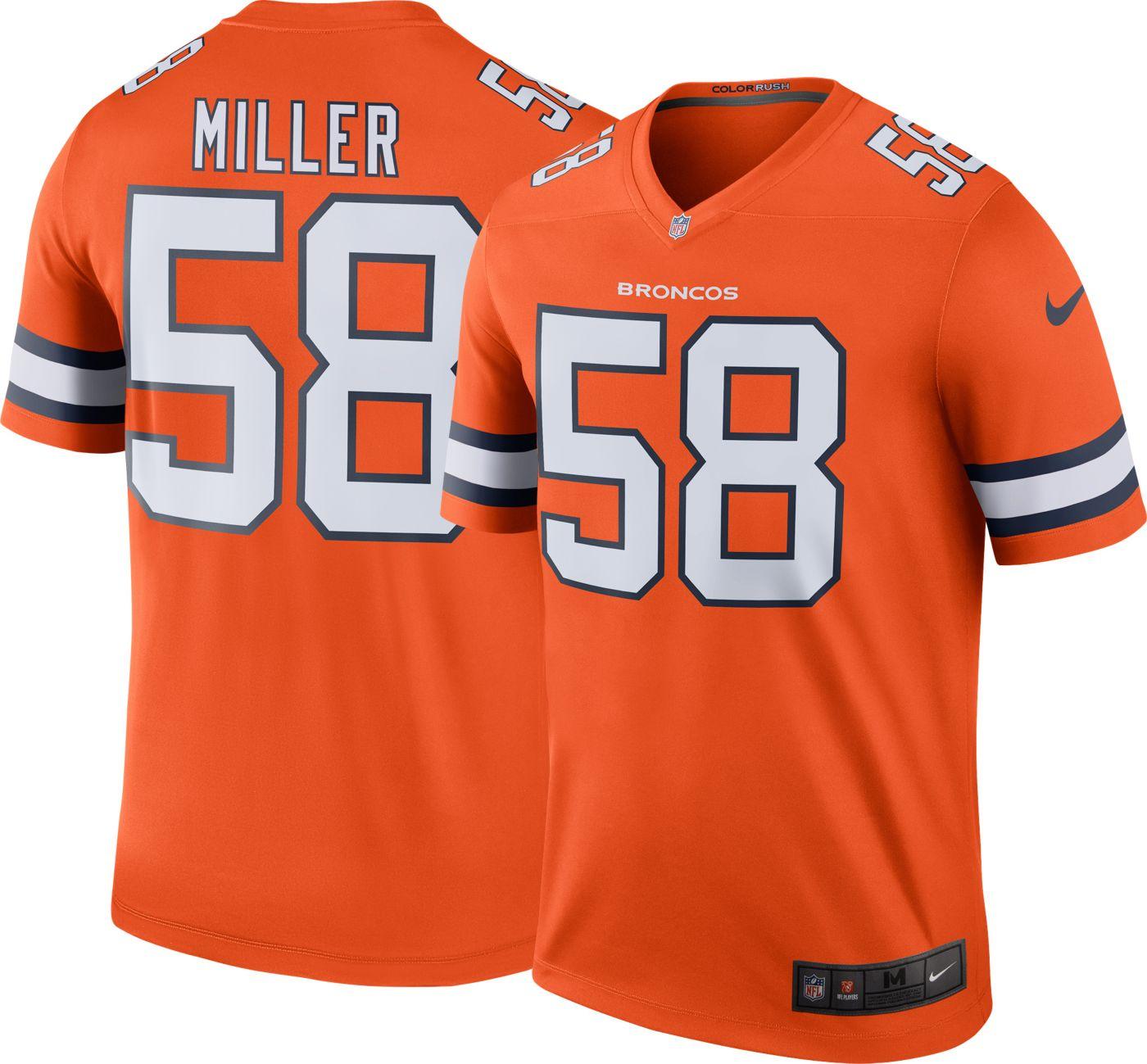 Nike Men's Color Rush Denver Broncos Von Miller #58 Legend Jersey