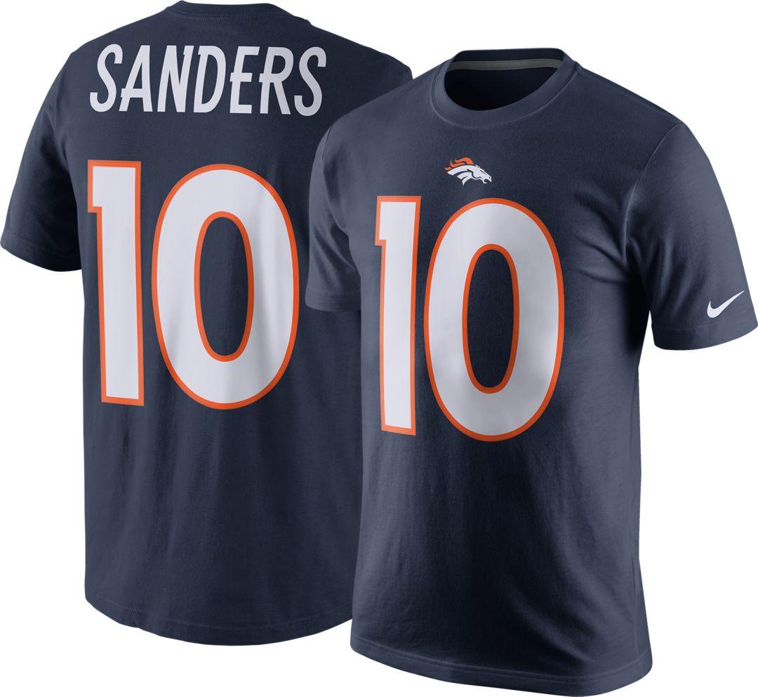 check out 75764 3e9cb Nike Men's Denver Broncos Emmanuel Sanders #10 Navy T-Shirt