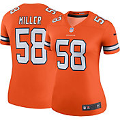 Nike Women's Denver Broncos Von Miller #58 Orange Legend Jersey