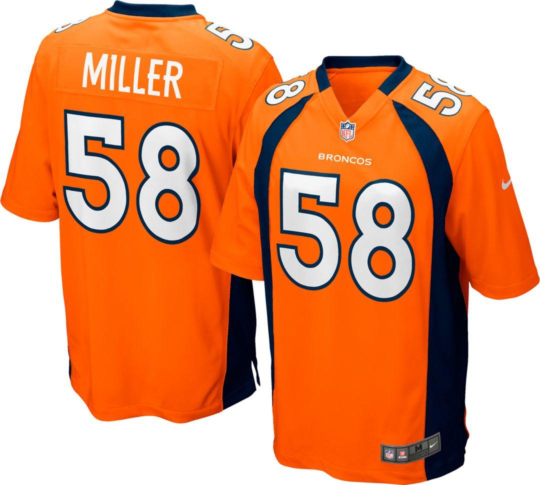 sports shoes 185e6 ef6e1 Nike Men's Home Game Jersey Denver Broncos Von Miller #58