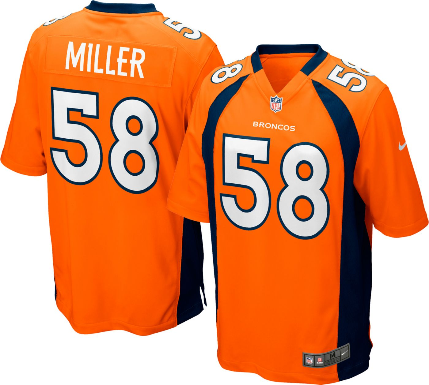 Nike Men's Home Game Jersey Denver Broncos Von Miller #58