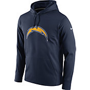 Nike Men's Los Angeles Chargers Performance Circuit Logo Essential Navy Hoodie