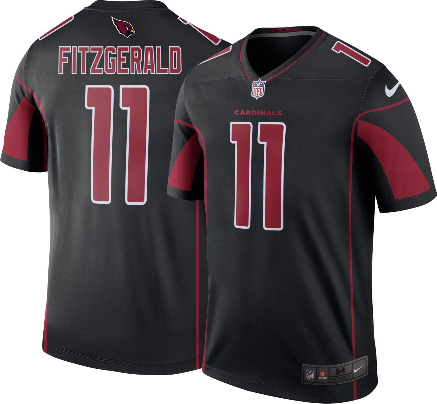 Nike Men's Color Rush Arizona Cardinals Larry Fitzgerald #11 Legend Jersey