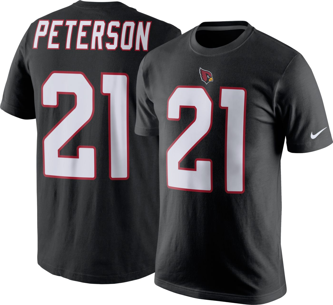 Nike Men's Arizona Cardinals Patrick Peterson #21 Pride Black T-Shirt