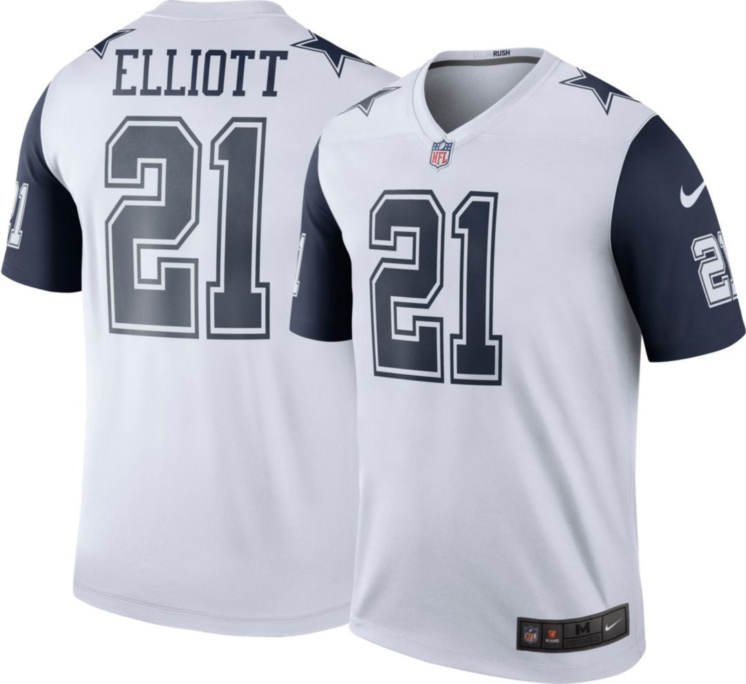 new product 97d19 2a0ee Nike Men's Color Rush Dallas Cowboys Ezekiel Elliott #21 Legend Jersey