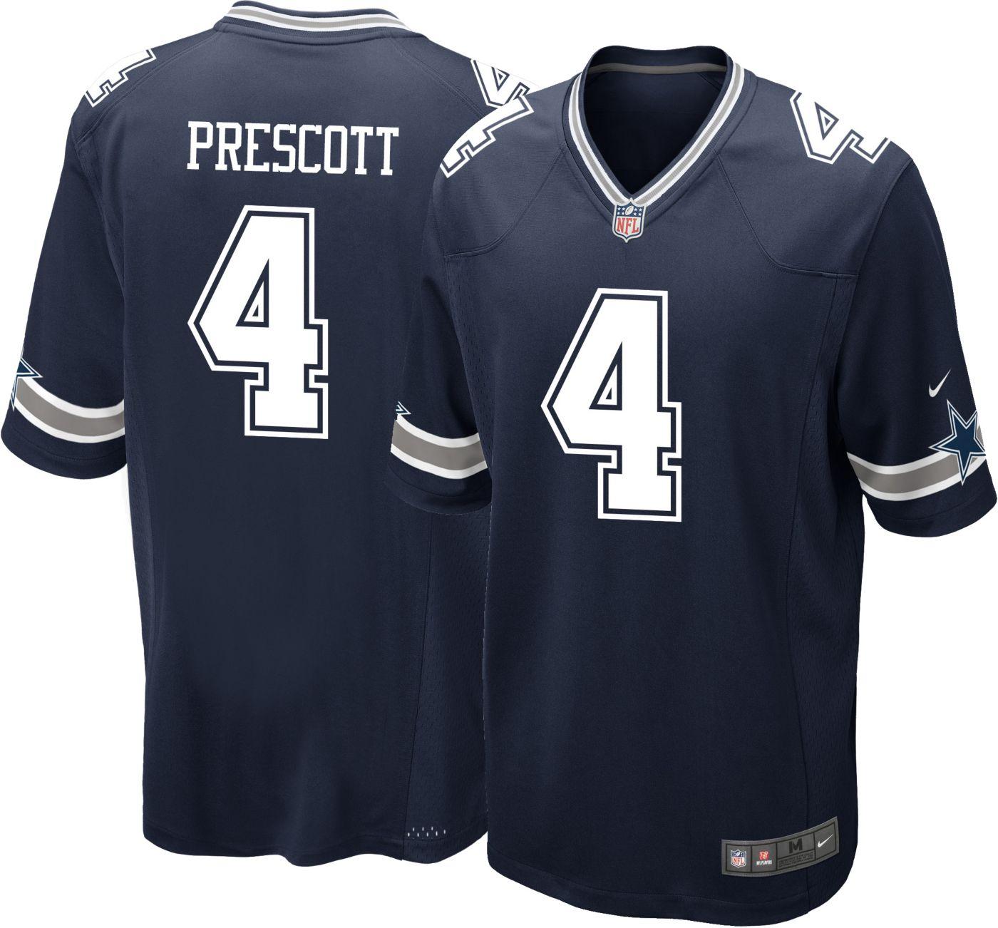 Nike Men's Game Jersey Dallas Cowboys Dak Prescott #4
