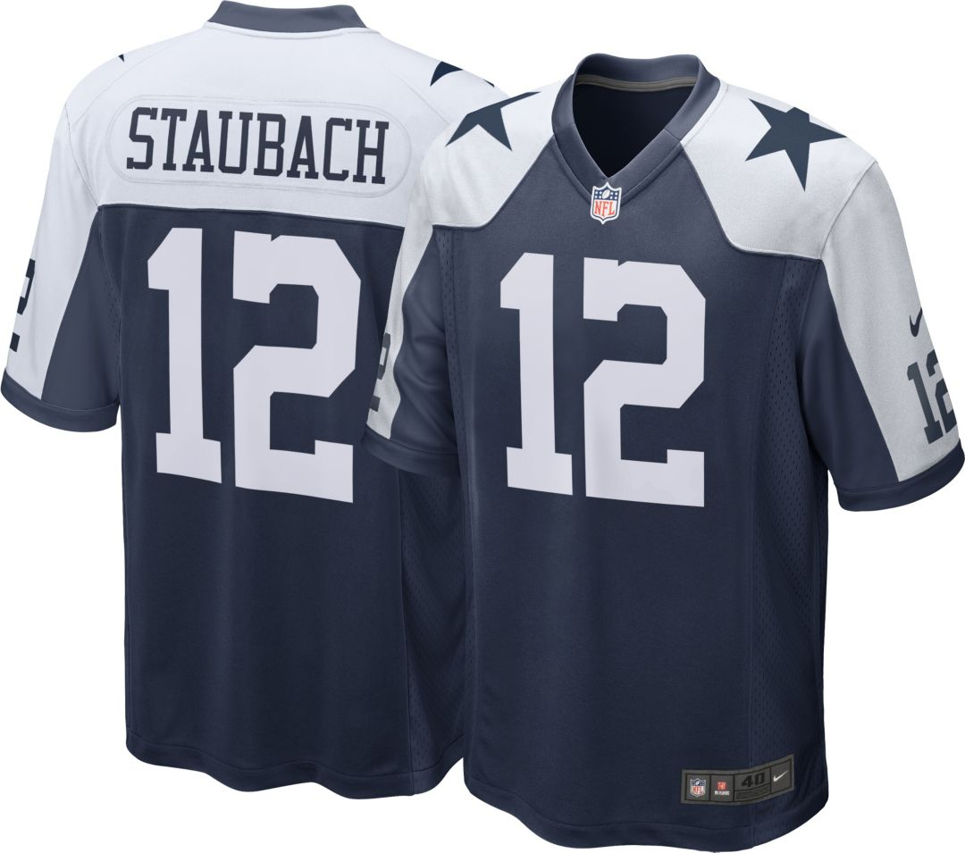 finest selection fcde3 99cbe Nike Men's Throwback Game Jersey Dallas Cowboys Roger Staubach #12