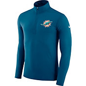 Nike Men's Miami Dolphins Element Navy Quarter-Zip Top