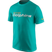 Nike Men's Miami Dolphins Essential Wordmark Aqua T-Shirt