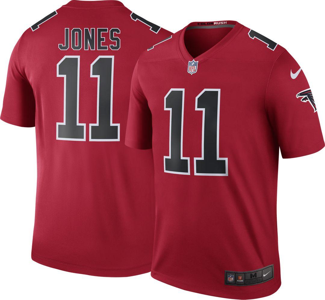 new concept e79fc 5c0f9 Nike Men's Color Rush Atlanta Falcons Julio Jones #11 Legend Jersey