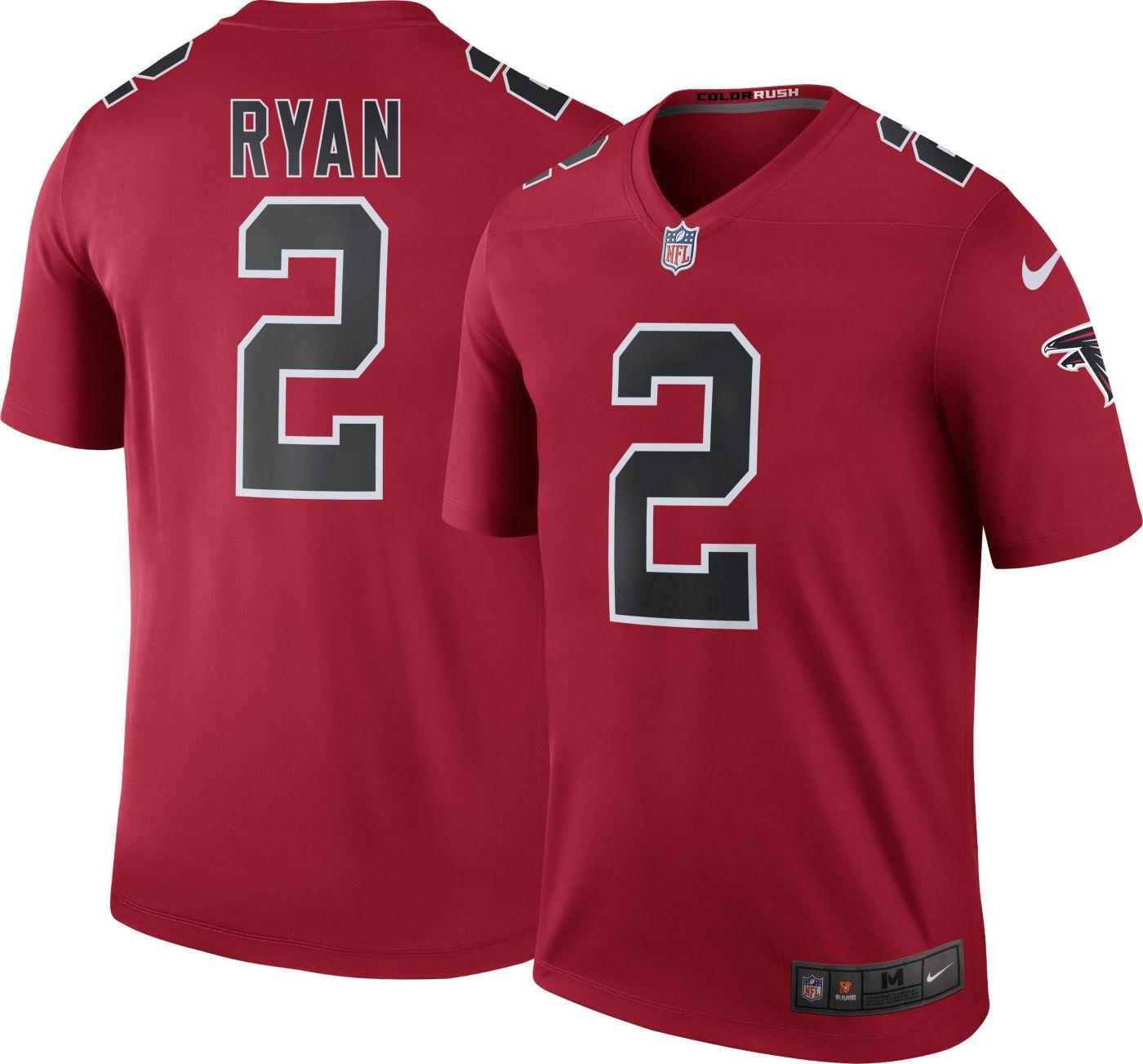 Nike Men's Color Rush Atlanta Falcons Matt Ryan #2 Legend Jersey