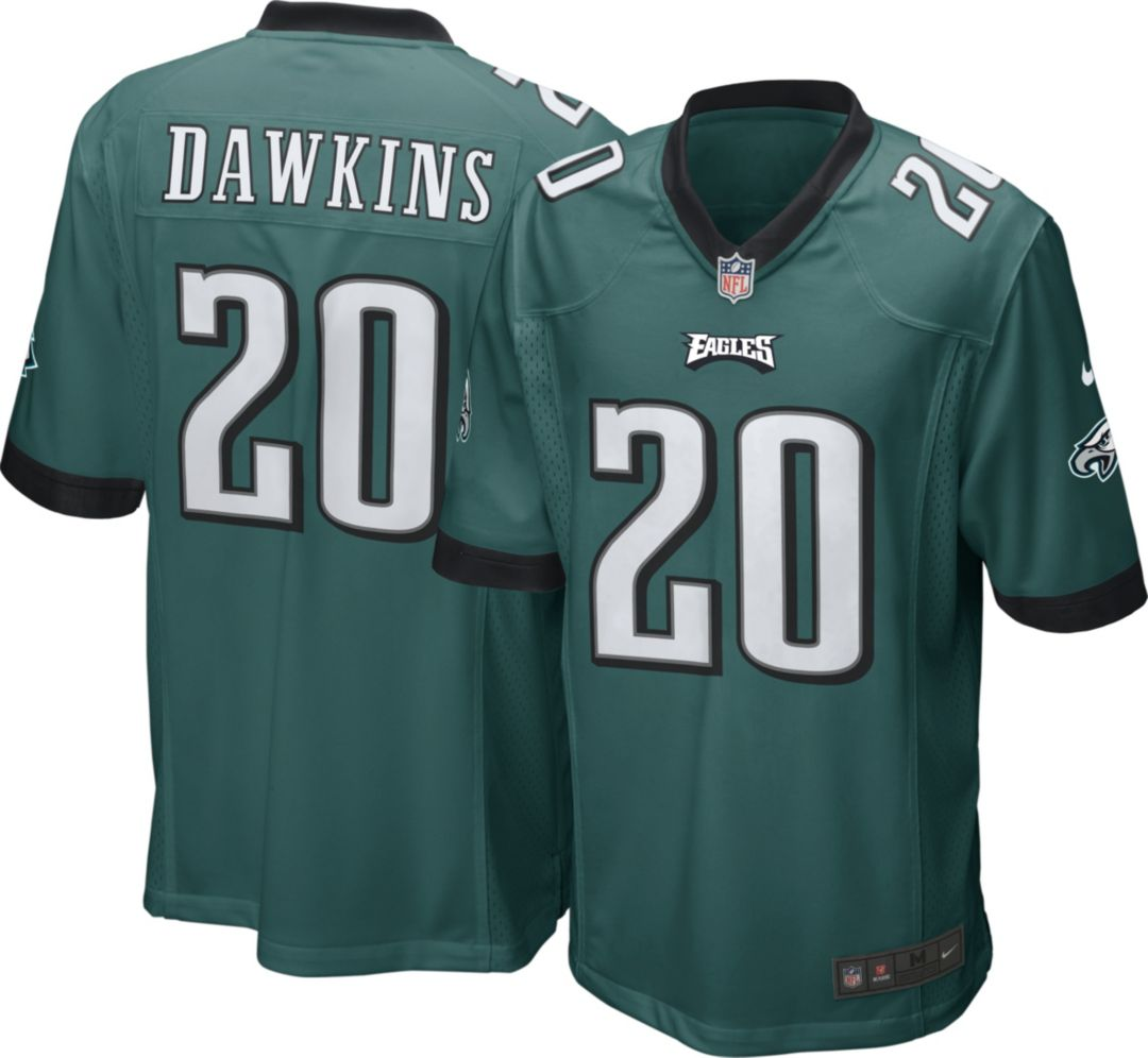 release date: a8e8d 154ec Nike Men's Home Game Jersey Philadelphia Eagles Brian Dawkins #20