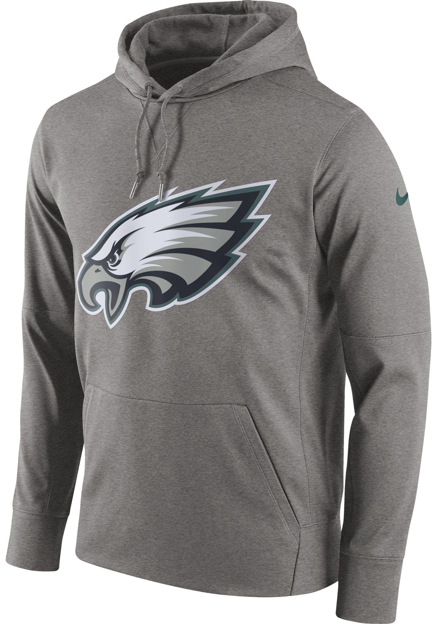 Nike Men's Philadelphia Eagles Circuit Logo Grey Pullover Hoodie