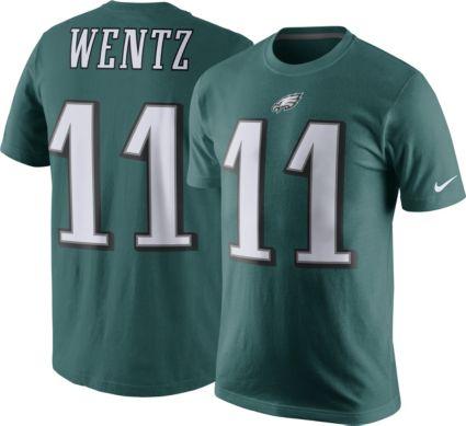 Nike Men s Philadelphia Eagles Carson Wentz  11 Pride Green T-Shirt.  noImageFound 1c532a5c9