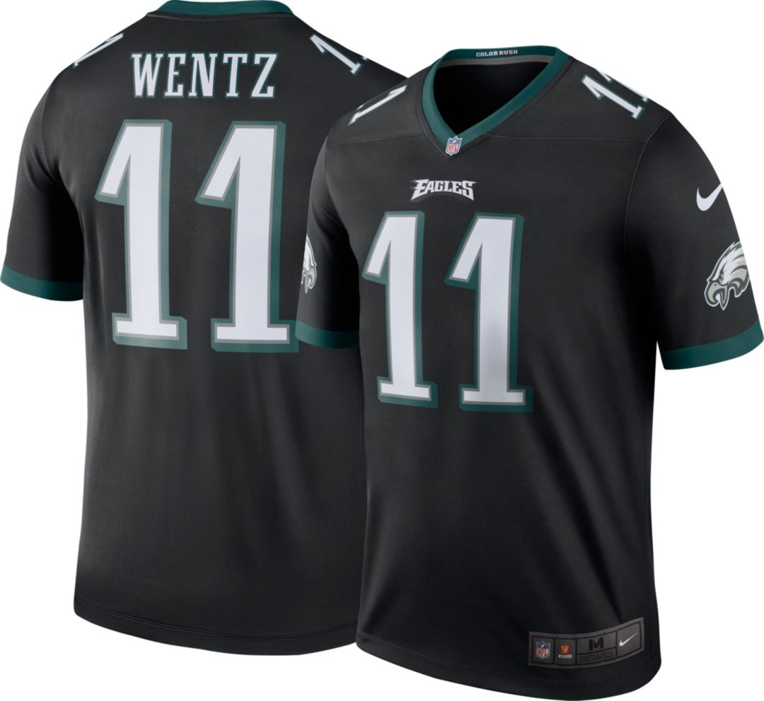 39bf890cfab Nike Men's Color Rush Legend Jersey Shirt Philadelphia Eagles Carson Wentz  ...