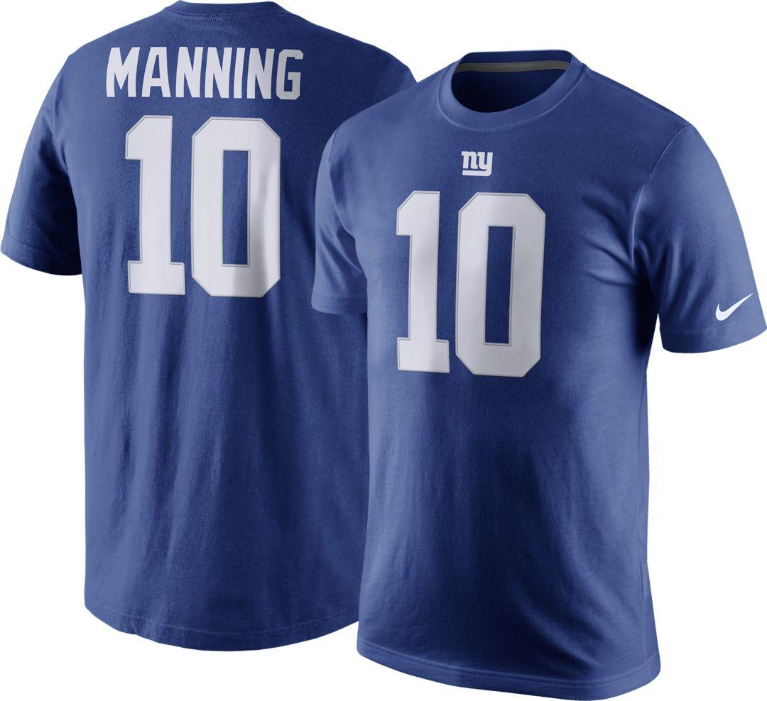 buy online 8ed3f a0e31 Nike Men's New York Giants Eli Manning #10 Pride Royal T-Shirt