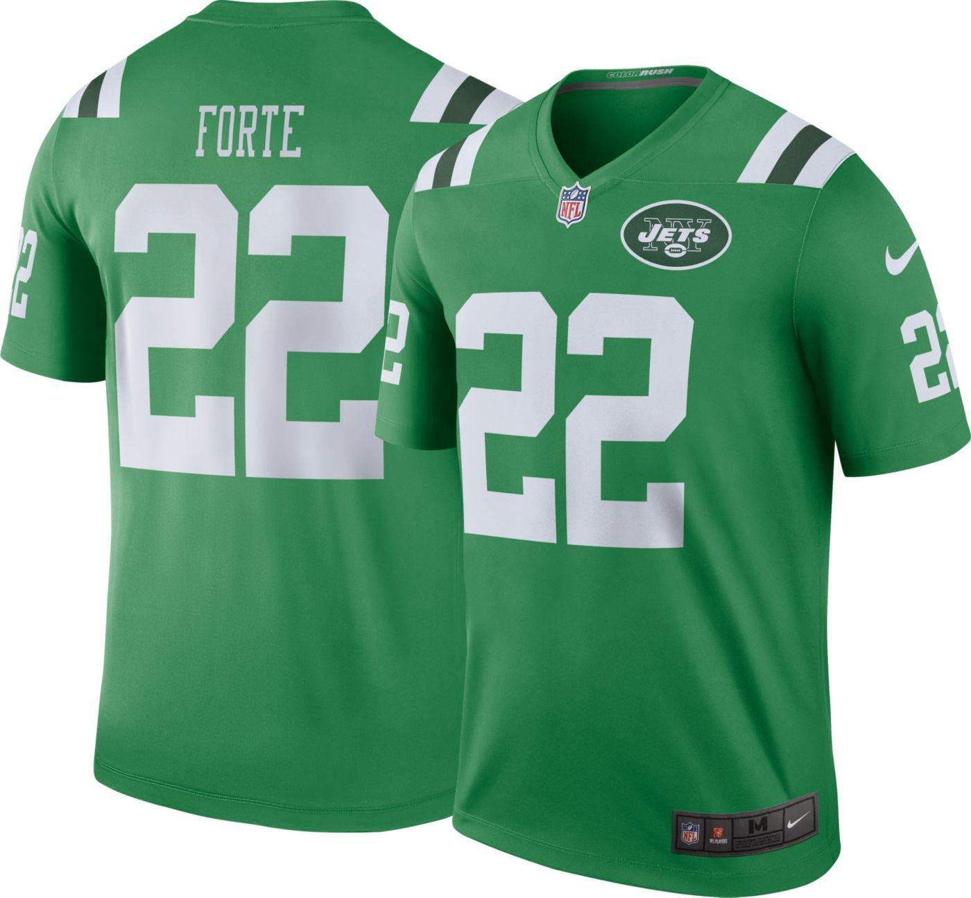 Nike Men's Color Rush New York Jets Matt Forte #22 Legend Jersey