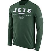 Nike Men's New York Jets Legend Staff Green Long Sleeve Performance Shirt