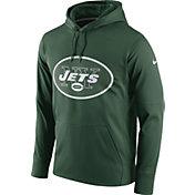 Nike Men's New York Jets Performance Circuit Logo Essential Green Hoodie
